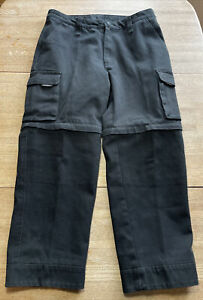 Cortech CPX Motorcycle Pants Black Cargo Style Zip Off Legs Men's 36 x 30 Shorts