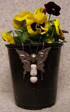 Flower Pot Hugger Metal and ceramic Butterfly #3 NEW
