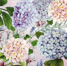 2 pcs Single Paper Napkins For Decoupage Craft Hydrangea