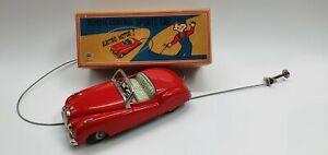 Tin Toy 1950s Masudaya / Modern Toys (MT)Jaguar Sports Car Convertible (s19)
