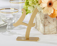Gold Classic Table Numbers 1-12 Wedding Reception Anniversary Birthday Tables