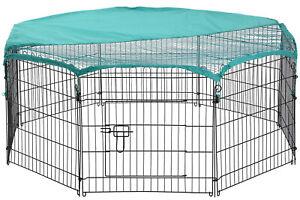 """8 Panel 24"""" Pet Playpen w/Door & Cover Rabbit Enclosure Dog Cat Cage"""