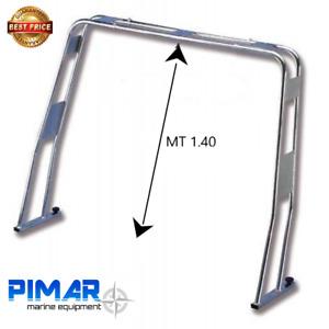Roll bar in acciaio inox  316 abbattibile tubo Ø diametro 40 mm | Barca Nautica