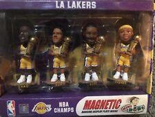 Mini Bobs Magnet Bobblehead Figurine Set LA Lakers Shaq Kobe Fisher Fox NIB
