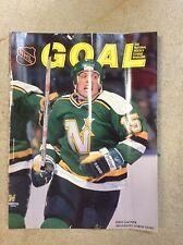 March 7 1990 Dave Gagner Minnesota North Stars Chicago Blackhawks Program Hockey