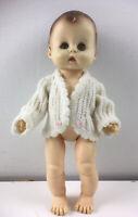 Vintage 1965 Effanbee Vinyl Baby Doll 2400N Sleep Blinking Eyes Brown Hair Vtg