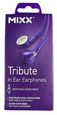 MIXX Tribute in Earphones with 3.5mm Audio Cable - Purple | New