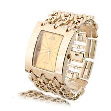 Quartz Bracelet Wrist Watch Luxury Crystal Gold Bling Gift for Lady Women Girl's