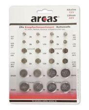 Alkaline & Lithium Knopfzellen Set 24-teilig AG1 AG3 AG4 AG5 AG8 AG10 CR2032