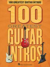 100 Greatest Guitar Intros Sheet Music Guitar Riffs Book NEW 000127533