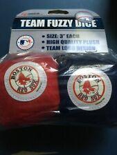 BOSTON RED SOX PLUSH FUZZY DICE CAR MIRROR DANGLER MLB BASEBALL - BRAND-NEW!