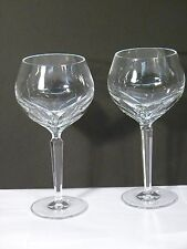 Pre Owned Waterford Crystal Red Wine Glass Set 2 Shelia Hock Acid Signed MINT!!