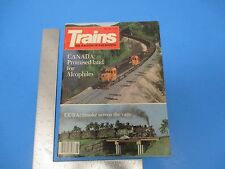 Vintage Trains Magazine May 1983 Canada Promised Land For Alcophiles M798