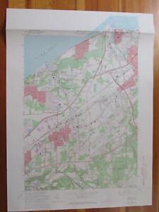Mentor Ohio 1971 Original Vintage USGS Topo Map