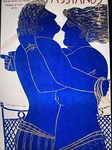 Original Vintage Fassianos Couple 1975 Lithograph