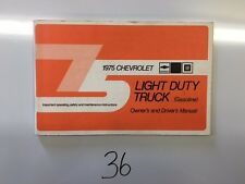 1975 Chevrolet Light Duty Truck Owners Manual