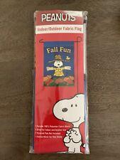 Peanuts Snoopy Indoor/Outdoor Fabric Mini Fall Garden Flag, 12x18