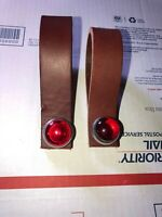 HUB SHINERS  Red Bicycle reflectors jewels TWO Schwinn Harley J.C Higgins