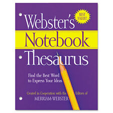 Merriam Webster Notebook Thesaurus Three-Hole Punched Paperback 80 Pages Fsp0573