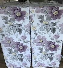 """Laura Ashley Peony Garden Amethyst Curtains - 60""""W x 51""""L - Immaculate"""