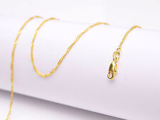 """Filled """"Water Wave"""" Chain Necklace Pendants 1Pcs Wholesale 18"""" Jewelry 18K Gold"""