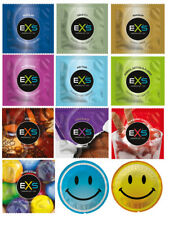 EXS Condoms, Dotted & Ribbed, Ultra Thin, Flavoured, Snug Fit, extra safe Condom