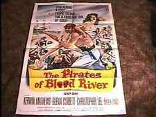 PIRATES OF BLOOD RIVER MOVIE POSTER '62 GREAT GRAPHICS