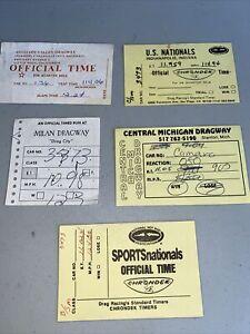 Vintage Drag Racing Time Slips (5)