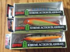 RAPALA X-RAP-12's--lot of 3 DIFFERENT COLORED-FISHING LURES-XR12