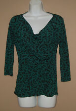 Womens Size XS Long 3/4 Sleeve Fall Fashion Ruched Career Blouse Top Shirt