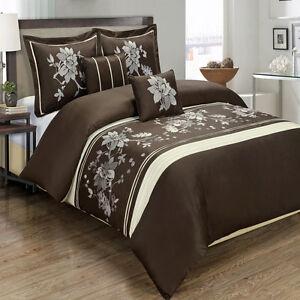 6PC Bundle- Includes Myra Cotton Duvet Cover and Down Alternative Comforter