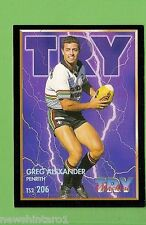 1994 Series 2 RUGBY LEAGUE CARD #206  GREG ALEXANDER  PENRITH PANTHERS