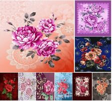 2Ply Heavy Blanket Printed Soft Thick Warm Bed throw 4Kg  Double Sided 200x240cm