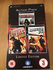 Action Pack Prince Of Persia / Tom Clancy / Driver 76 PSP PlayStation Game