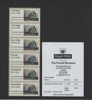 MAIL BY RAIL UNDERGROUND  DIGITAL POSTAL MUSEUM BOGB19 COLLECTOR STRIP Post & Go