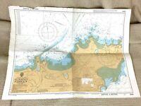 1985 Vintage Marittimo Mappa Alderney Harbour Il Canale Isole Braye Bay Longy