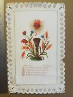 Canivet dentelle Holy Card image pieuse - Coupe blé fleurs - Bouasse jeune