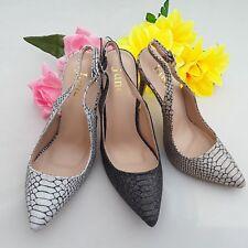 Ladies  Sling Back Heels Glitter Stilettos   5690-415
