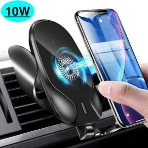 Qi Auto Wireless Charger Handy Halterung Induktions Ladegerät Clamping KFZ SPEED