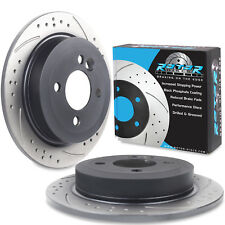 REAR DRILLED GROOVED 259mm BRAKE DISCS FOR MINI R56 R58 R59 COOPER S ONE WORKS