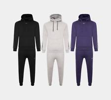 Mens Nike Taped Swoosh Overhead Full Tracksuit Fleece Set Black Grey Navy S-XL