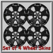 "Black Chevy Colorado Wheel Skins Hubcaps 17"" 2015-2019 Chevrolet Wheel Cover"