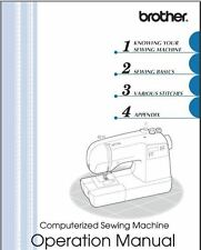 Brother SQ9000 Sewing Machine Instruction Manual Users Guide PDF on CD