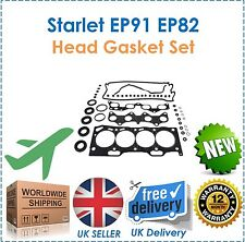 For Starlet 1.3 EP91 EP82 GT Turbo Glanza Engine Head Gasket Set Seal Bolts