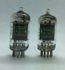 12AU7 ECC82 USA D or square getter 2 pieces USED tube valve
