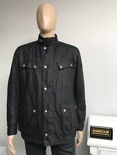 Barbour DUKE Men's Waxed Wax Cotton Jacket Coat Black L Large 40 - £199