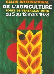Original vintage poster PARIS AGRICULTURE EXPO ROOSTER 1978