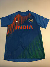 Mens Nike Dri fit India Cricket Team Jersey T-shirt sz Large Blue FLAW
