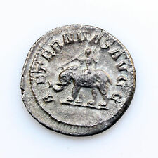 PHILIP I the ARAB 244-249 AD 1000 Years of Rome Elephant Silver Roman Coin XF