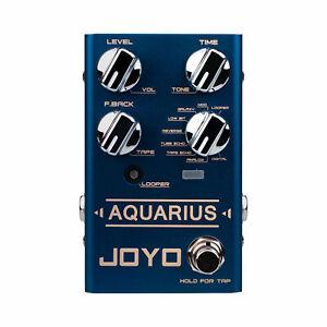 Joyo R07 R Series Aquarius - Guitar Delay & Looper Effect Pedal - Jam Music